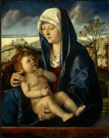 Джованни Беллини. Мадонна с младенцем в пейзаже, Фрагмент14