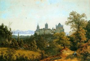 Анри Книп. Вид на Лозанну