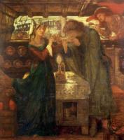 Данте Габриэль Россетти. Тристан и Изольда пьют любовное зелье