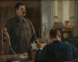 Александр Михайлович Герасимов. Сталин у прямого провода
