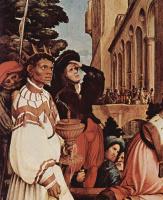 Ганс Гольбейн Младший. Алтарь Ганса Оберрида в кафедральном соборе Фрайбурга. Левая створка. Фрагмент