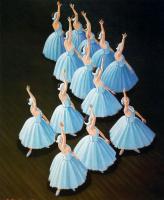Эмилио Бонет Казанова. Балерины в голубых платьях