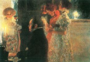 Густав Климт. Шуберт за пианино