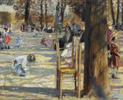 Исаак Израилевич Бродский. Люксембургский сад весной