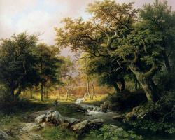 Баренд Корнелис Куккук. Лесной пейзаж