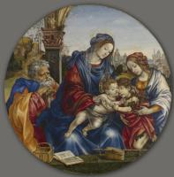 Филиппино Липпи. Святое семейство с младенцем Крестителем и святой Маргаритой
