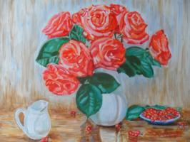 Gulnara Matyukhina. Roses and berries