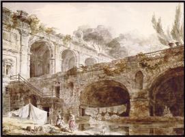 Роберт Хуберт. Римские руины на вилле Мадама