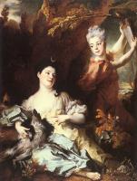 Николас Ларгиллиерр. Портрет женщины в образе Дианы