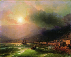 Ivan Aivazovsky. Seaside town. View Of Yalta
