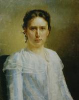 Nikolai Vasilyevich Nevrev. Female portrait. 1892