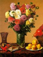 Стоун Робертс. Цветы и фрукты на столе