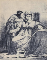 Василий Григорьевич Перов. Наушница. Перед грозой