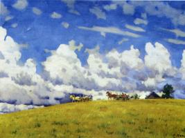 Константин Федорович Юон. Облачный день. Лигачёво