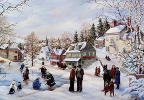 Питер Робсон. Зимний пейзаж