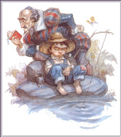 Питер де Сев. Рыбак в шляпе