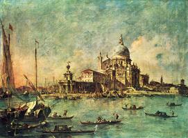 Франческо Гварди. Вид от Таможни на церковь делла Салюте