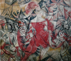 Александр Васильевич Шевченко. Цирковая наездница. 1913 Холст, масло 99х113,5
