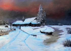 Сергей Николаевич Ходоренко-Затонский. Зимний пейзаж