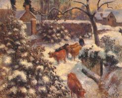 Camille Pissarro. Snow effect in Monfumo