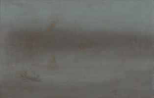 James Abbot McNeill Whistler. Nocturne: blue and silver. Battersea Reach