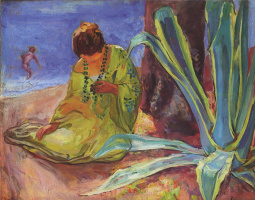 Henri Lebasque. A woman at Saint Maxime