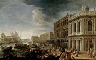 Лука Карлеварис. Вид на реку и набережную в направлении церкви Санта Мария делла Салуте