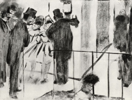 Edgar Degas. Pauline and Virginia, chatting with his fans