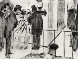 Эдгар Дега. Полина и Вирджиния, болтающие со своими поклонниками