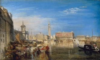 Джозеф Мэллорд Уильям Тёрнер. Мост вздохов, Дворец Дожей и таможня в Венеции