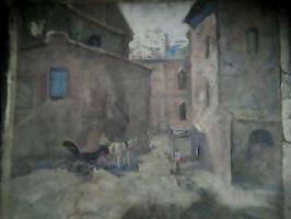 Konstantin Nikolaevich Istomin. The finished sketch.The urban landscape