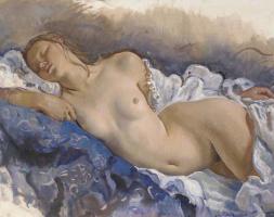 Зинаида Евгеньевна Серебрякова. Спящая обнаженная