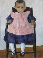 Роберт Рафаилович Фальк. Девочка в креслице