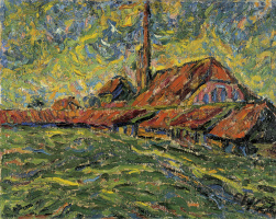 Erich Heckel. Brick factory