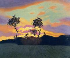 Феликс Валлоттон. Пейзаж на закате