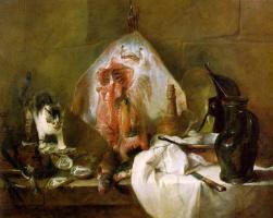 Jean Baptiste Simeon Chardin. Still life with skate