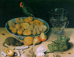 Georg Flegel. Still life with grapes