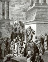Поль Гюстав Доре. Иллюстрация к Библии: Иона проповедует на улицах Ниневии