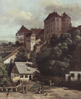 Giovanni Antonio Canal (Canaletto). View of Pirna from the South side