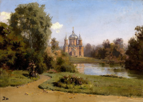 Vasily Dmitrievich Polenov. Church on the lake