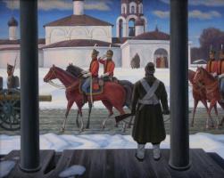 Владимир Федорович Якунин. В освобождённом селе