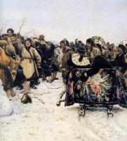 Василий Иванович Суриков. Взятие снежного городка. Фрагмент