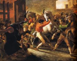 Теодор Жерико. Бег свободных лошадей в Риме II