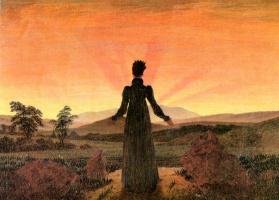 Женщина и закат