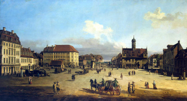 Bernardo Bellotto. Market square in the New town in Dresden