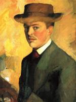Август Маке. Автопортрет в шляпе