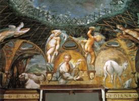 Франческо Пармиджанино. История Дианы и Актеона. Восточная сторона фрескового цикла