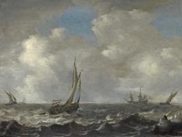 Ян Порселлис. Корабли в бурном море