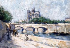 Жан-Франсуа Рафаэлли. Вид с набережной на Нотр-Дам
