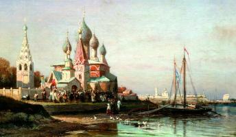 Alexey Petrovich Bogolyubov. Procession in Yaroslavl